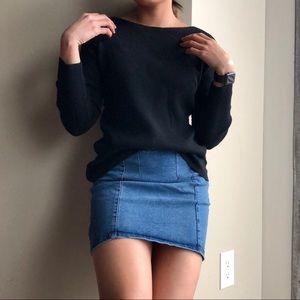 Gap Black Ribbed Sweater